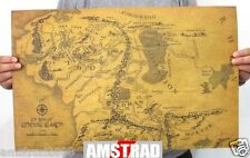 MAPPA IL SIGNORE DEGLI ANELLI -MAP POSTER THE LORD OF THE RINGS 50 X 33 CM