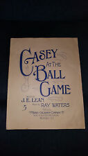 Original Rare 1914 Baseball Sheet Music Casey at the Ball Game