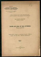 BUSATTO SANTO SUICIDIO PER ARMA DA FUOCO ALL'ADDOME 1936 MEDICINA LEGALE