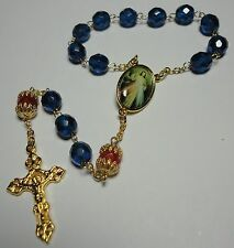 Handmade in the USA Divine Mercy Ecce Homo Single Decade Rosary w/ Prayer Cards