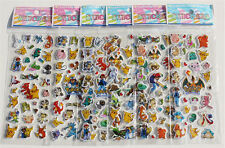 Hot 6Sheets Puffy Anime Pokemon Stickers Pikachu Pocket Monster Scrapbooking B61
