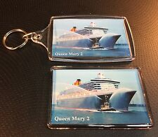 Cunard Line QUEEN MARY 2 Photo Key Ring & Fridge Magnet Set Cruise Ship Liner