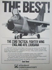 10/1977 PUB VOUGHT A-7D CORSAIR 23RD TFW TACTICAL FIGHTER WING ENGLAND AFB AD