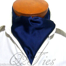 MEN'S SOLID NAVY BLUE FREE Style Casual Ascot Cravats Formal Party Wedding