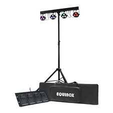 Equinox microbar Quad System eqled 60a LED PAR Pannelli T-Bar STAND Foot Controller