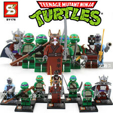 Lots 8 Ninja Turtle building Minifigures block toys fit lego all new in bags