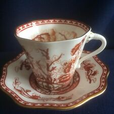 Coalport Indian Tree Coral tea cup & saucer ( second - minor flaws)