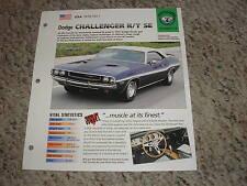 USA 1970-1971 Dodge Challenger R/T SE Hot Cars Group 4 # 77 Spec Sheet Brochure