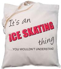 It's an ICE SKATING thing - you wouldn't understand -Natural Cotton Shoulder Bag
