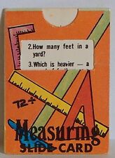 VINTAGE 1970 CRACKER JACK MEASURING SLIDE CARD PRIZE PREMIUM