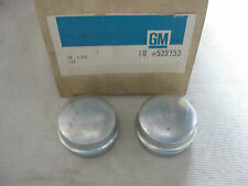 NOS CHEVY CHEVELLE SS SS396 1965 - 1972 FRONT WHEEL BEARING GREASE CAP Set/2