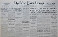 2-1932 February 24 JAPAN SPEEDS NEW ARMY TO SHANGHAI TOKYO LEAGUE. CHINA DRIVE