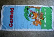 Garfield the Cat bath Towel made/West Germany by Walterscheid 100% cotton Used