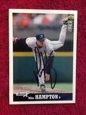 Mike Hampton Signed Autographed Upper Deck Baseball Card Single Auto Astros