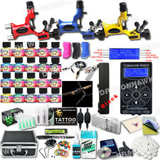DragonHawk Pro Tattoo Machine Kit 3 Rotary Guns New Design Power Box and Inks