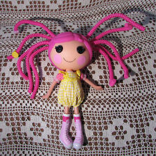 """LaLaLoopsy Doll 2010 Huge Pink Bendy Hair Strands Girl in Romper & Boots 12""""Tall"""