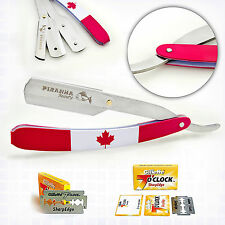 BARBER STRAIGHT CUT THROAT SHAVING RAZOR SHAVETTE RASOI RASOIRS + BLADES CANADA