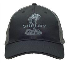 Shelby Super Snake Cobra Logo Black/Gray Combo Mesh Hat Ford Mustang GT500 SVT