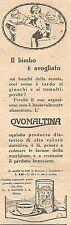 W2232 OVOMALTINA - Il bimbo è svogliato... - Pubblicità del 1930 - Old advert