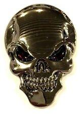 x1 New Custom Chrome Skull Punisher Emblem / Badge / Decal Turbo Diesel HP
