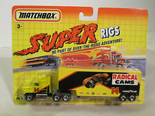 Matchbox Super Rigs Ford Areomax w Low Boy Trailer # 14 Racing Team Radical Cams