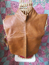 Rare Leather Neck Insert /Bib-'The Robi'-Late 19th C. - Military/ Sport Fencing?