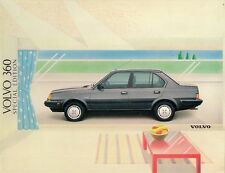 Volvo 360 GLE Special Edition 1988 UK Market Sales Brochure 5-dr 4-dr