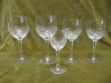 5 verres à vin blanc porto cristal de Saint Louis mod Roty crystal wine glasses