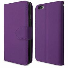 PURPLE FOR APPLE iPhone 6G 4.7 PU LEATHER SIDE OPENING WALLET FLIP CASE COVER