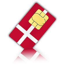 SIM Karte für Dänemark mit 750MB mobiles Internet Nano