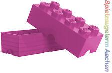 LEGO Storage Brick 8 PINK Stein 2x4 Aufbewahrung Box Kiste BHT 25x18x50cm