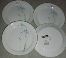 "SHADOW IRIS BY CORELLE LOT OF 4   NEW  9"" SALAD LUNCHEON PLATES"