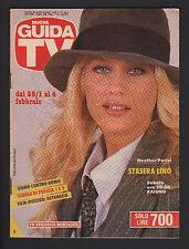 NUOVA GUIDA TV MONDADORI 4/1989 HEATHER PARISI PROGRAMMI TV LOCALI CENTRO ITALIA
