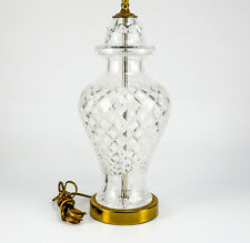 Waterford Crystal Table Lamp, Hollywood Regency Style, Diamond cuts