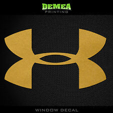 Under Armour - Personalized Window Car Decal- Gold  - 5""