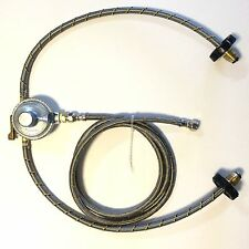 Propane Regulator 3 way valve 2 Stainless steel Braided Hoses and 2' hose Gas LP