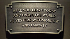 Disneyland Entrance sign plaque entranceway
