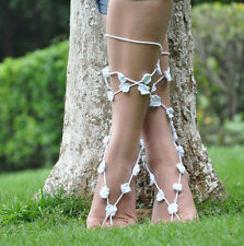 Fashion Manual cotton knits barefoot crochet anklets crochet barefoot sandals