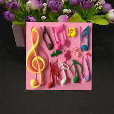 Music Musical G Treble Clef Double Silicone Eighth Notes Fondant Jewelry Mold