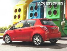 2014 Toyota Yaris  Original 10-page Car Dealer Accessories Brochure