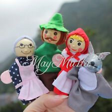 Little Red Riding Hood Finger Puppets Baby Dolls Party Gift 4pcs Toy Interesting
