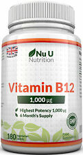 Vitamin B12 Methylcobalamin 1000mcg 180 Berry Flavoured Melts 100% Guarantee