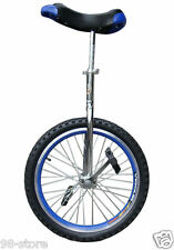 "20"" in & Out Door Chrome Unicycle in Blue, Brand New"