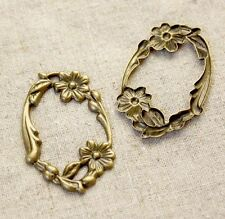 Brass Vintage Filigree Findings - pack of 10 pcs
