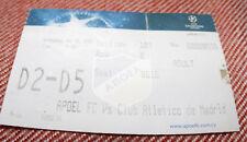 Ticket for collectors CL APOEL Nicosia - Atletico Madrid 2009 Cyprus Spain
