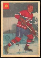 1954-55 PARKHURST HOCKEY #10 TOM JOHNSON EX MONTREAL CANADIENS WITH STAT BACK