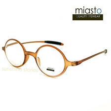 TR90 MIASTO LENNON ULTRA LIGHT READER READING GLASSES SPECS+1.50 ROUND BROWN