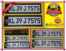 High Quality Car number plates ( German Font black ) front and back with  frames