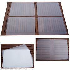 4 XL TISCHUNTERALGE Tischset Platzmatte Unterlagen PP transparent 60 x 40 NEU