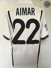 AIMAR #22 Valencia Nike Home Football Shirt Jersey 2000/01 (M)